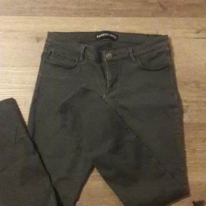Womens sz 10 EXPRESS stretchy jeans charcoal grey